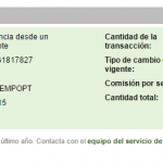 Comprobante de pago de Empiremoney