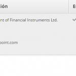Segundo comprobante de pago del programa XM Partners